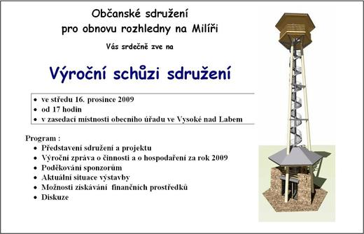 POZVÁNKA NA VÝROČNÍ SCHŮZI DNE 16.12.2009: